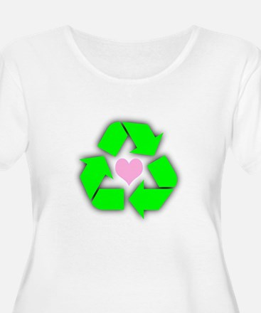 Recycled Heart Plus Size T-Shirt