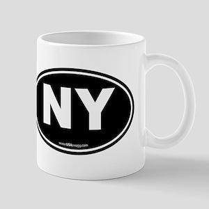 New York NY Euro Oval Mug