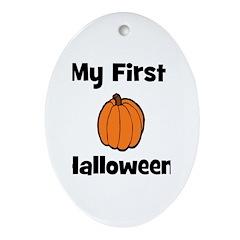 My First Halloween (pumpkin) Oval Ornament