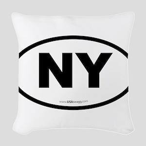 New York NY Euro Oval Woven Throw Pillow