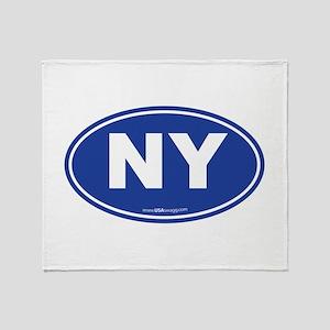 New York NY Euro Oval Throw Blanket