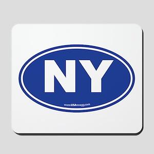 New York NY Euro Oval Mousepad