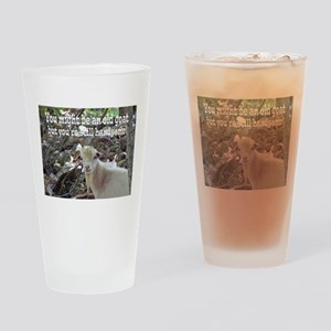 Old Goat Card Drinking Glass