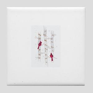 CARDINALS ON ASPEN Tile Coaster