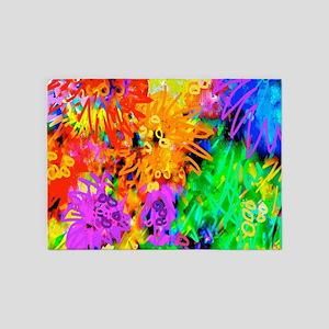Flowers Gone Wild 5'x7'Area Rug