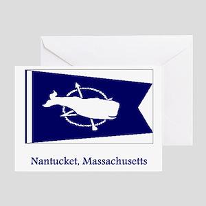 Nantucket MA Flag Greeting Card