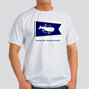 Nantucket MA Flag Light T-Shirt