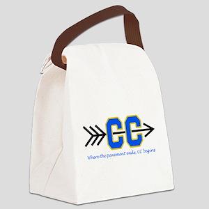 PAVEMENT ENDS APPLIQUE Canvas Lunch Bag