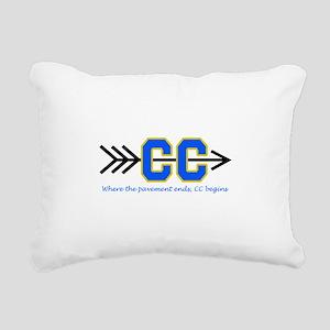 PAVEMENT ENDS APPLIQUE Rectangular Canvas Pillow