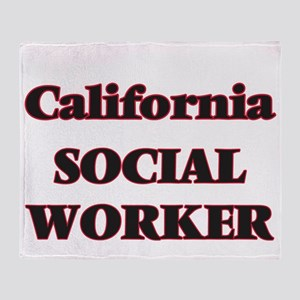 California Social Worker Throw Blanket