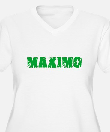 Maximo Name Weathered Green Desi Plus Size T-Shirt