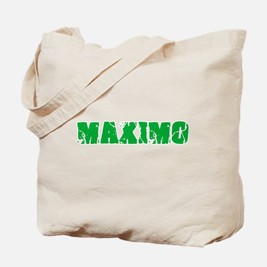 Maximo Name Weathered Green Design Tote Bag