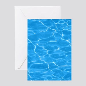 Blue Water Greeting Cards