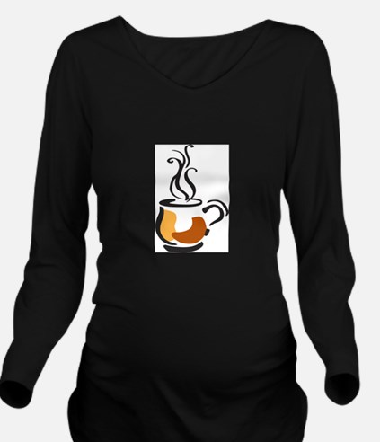 COFFEE CUP Long Sleeve Maternity T-Shirt