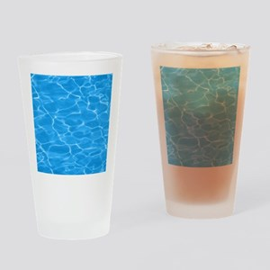 Blue Water Drinking Glass