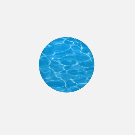 Blue Water Mini Button