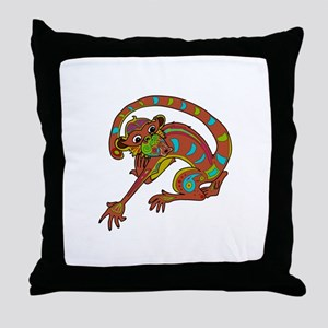 EMBELLISHED MONKEY Throw Pillow