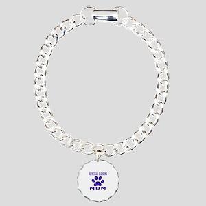 Norwegian Elkhound mom d Charm Bracelet, One Charm