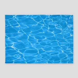 Blue Water 5'x7'Area Rug
