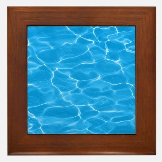 Blue Water Framed Tile