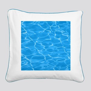 Blue Water Square Canvas Pillow