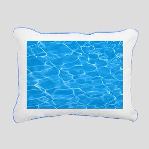 Blue Water Rectangular Canvas Pillow