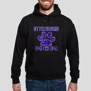 Otterhound mom designs Hoodie (dark)