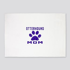 Otterhound mom designs 5'x7'Area Rug