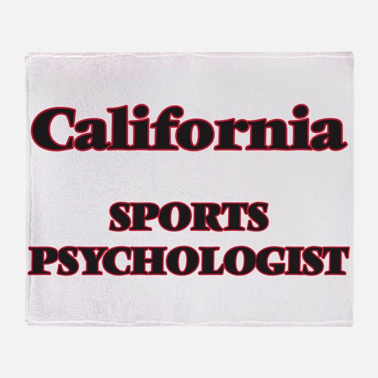 California Sports Psychologist Throw Blanket