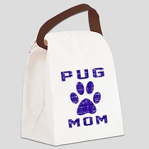 Pug mom designs Canvas Lunch Bag