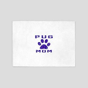 Pug mom designs 5'x7'Area Rug