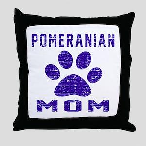 Pomeranian mom designs Throw Pillow
