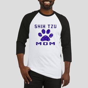 Shih Tzu mom designs Baseball Jersey