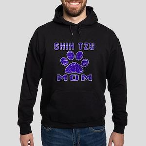 Shih Tzu mom designs Hoodie (dark)