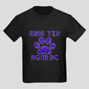 Shih Tzu mom designs Kids Dark T-Shirt