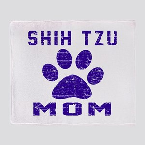 Shih Tzu mom designs Throw Blanket