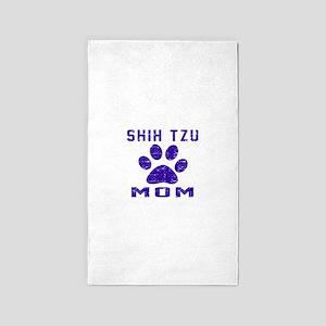 Shih Tzu mom designs Area Rug