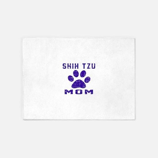 Shih Tzu mom designs 5'x7'Area Rug