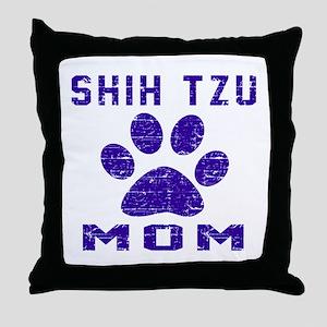 Shih Tzu mom designs Throw Pillow