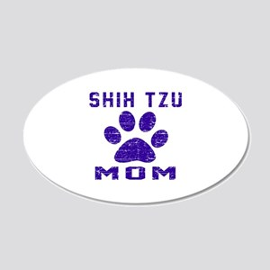 Shih Tzu mom designs 20x12 Oval Wall Decal