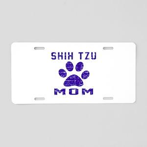 Shih Tzu mom designs Aluminum License Plate