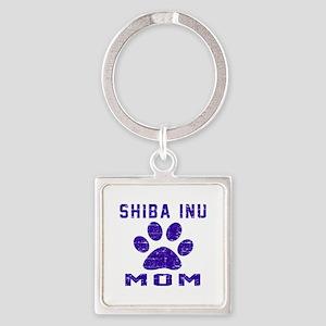 Shiba Inu mom designs Square Keychain