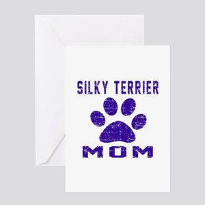 Silky Terrier mom designs Greeting Card