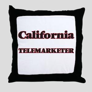 California Telemarketer Throw Pillow