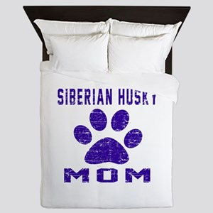 Siberian Husky mom designs Queen Duvet