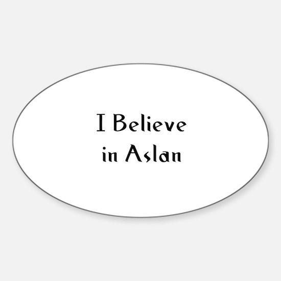 I Believe in Aslan Oval Decal