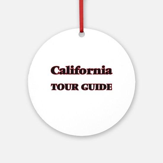 California Tour Guide Round Ornament