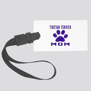 Tibetan Terrier mom designs Large Luggage Tag