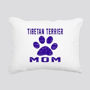 Tibetan Terrier mom desi Rectangular Canvas Pillow