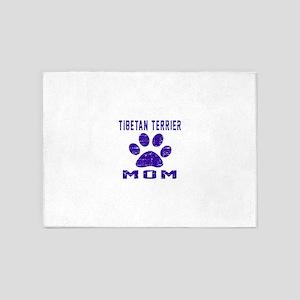 Tibetan Terrier mom designs 5'x7'Area Rug